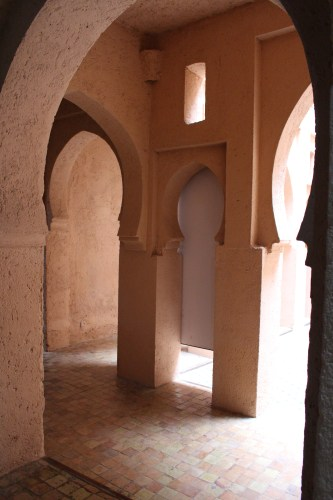 Doorways inside the Chefchaouen kasbah museum.