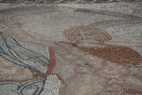 Colorful mosaics remain at Volubilis