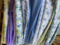 Fabrics for Blooming Blue in Tennessee Shop Hop theme