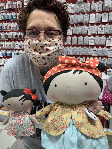 Tilda dolls at In Stitches, Johnson City