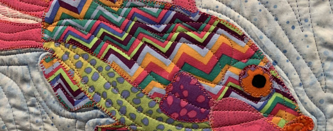 Fish quilt at Tennessee Quilts Johnson City TN