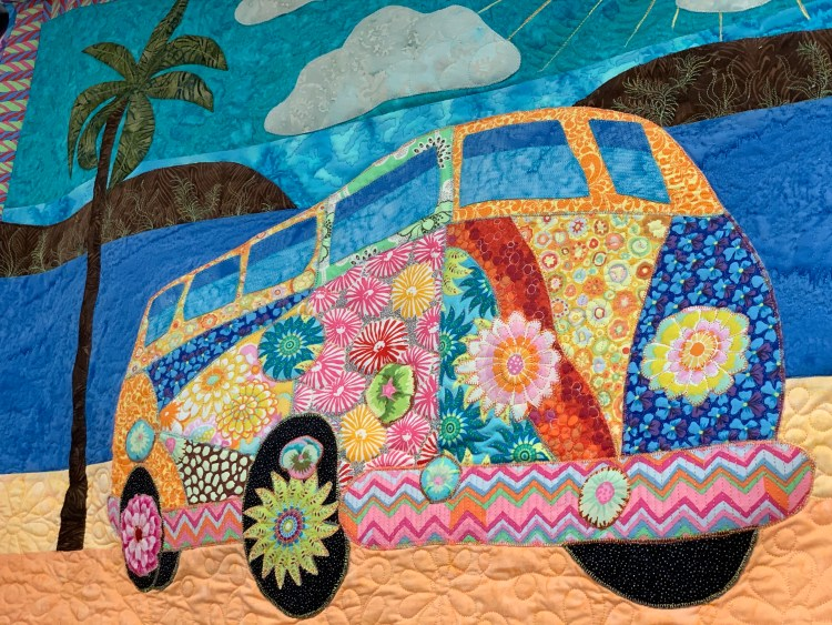 VW Bus quilt at Gina's Bernina, Knoxville TN