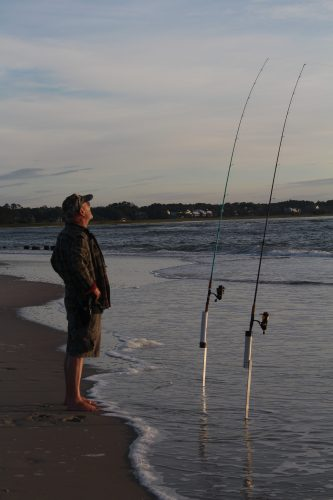 Fishing at North End, Pawleys Island SC
