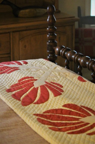 Antique quilt on an old bed, Knoxville