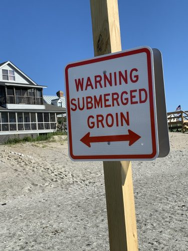 Sign at South End, Pawleys Island, SC