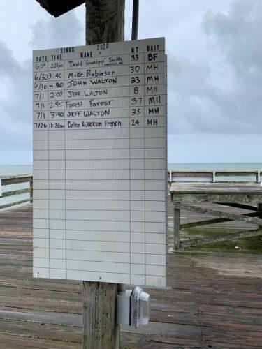 Fish chart, Pawleys Pier SC