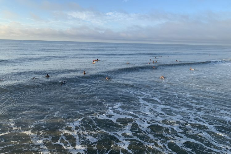 Surfers at North End Pawleys Island SC