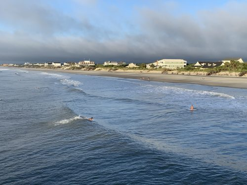 Surfers at North End Pawleys Island