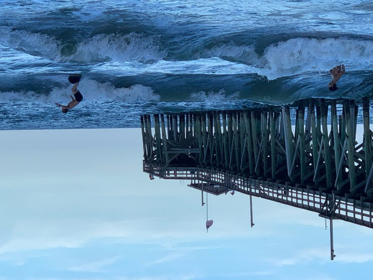 Surfers at Pawleys Pier, Pawleys Island SC