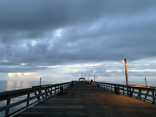 Early morning view of Pawleys Pier, SC