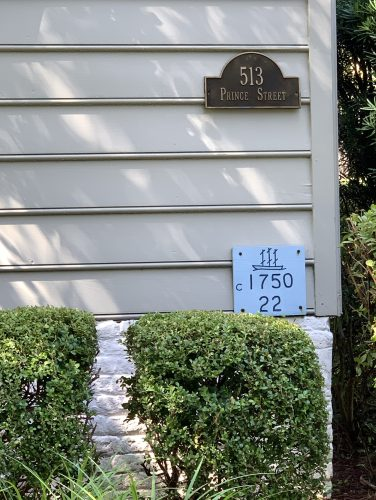 Historic markers on Georgetown SC home