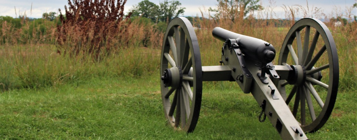 Cannon at Gettysburg sams