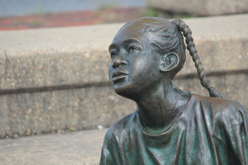 Girl in Kunta Kinte Alex Haley Memorial, Annapolis