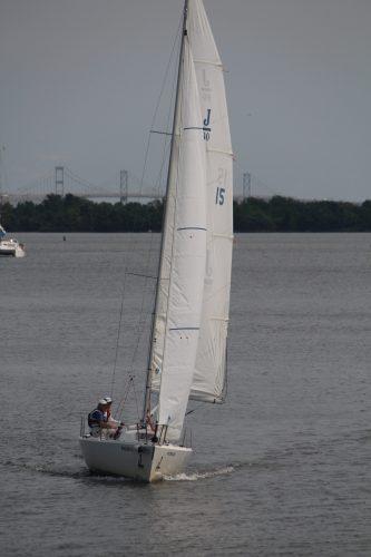 Tilting sailboat, Annapolis harbor