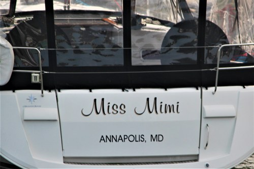 Miss Mini, boat in Annapolis harbor