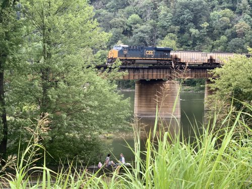 Train that runs through Harpers Ferry, WV