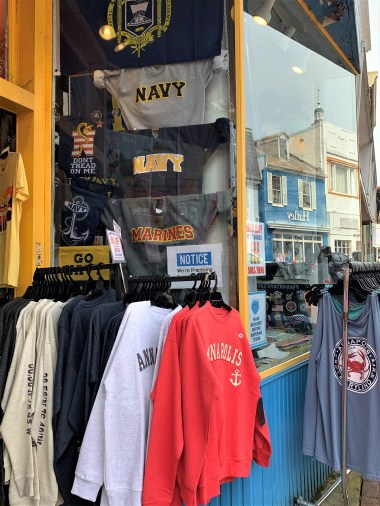 Annapolis shirts and souvenirs