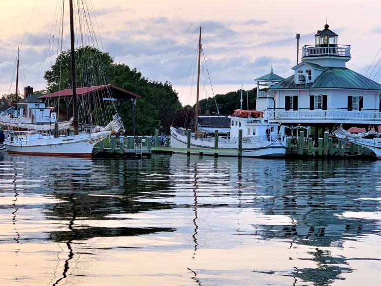 Sundown on Hooper Strait Lighthouse, St. Michaels MD