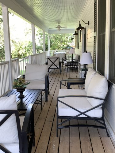 Sitting porch - My 100 Year Old Waco Home