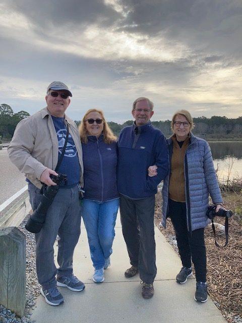 Bill & Janice Angell with Bert and Rusha Sams at Huntington Beach State Park