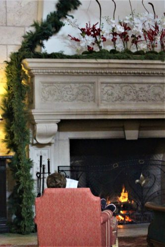 Fireplace at The Cloister, main room