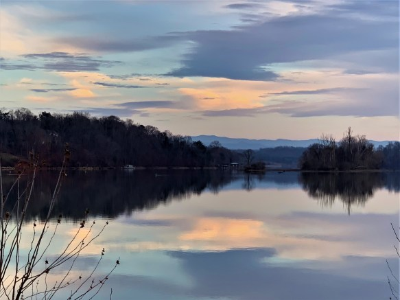 Sundown Lake Loudon, Dec. 30, 2020