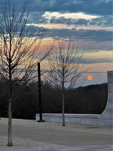 Full moon over HGTV Overlook, Lakeshore Park, Knoxville TN
