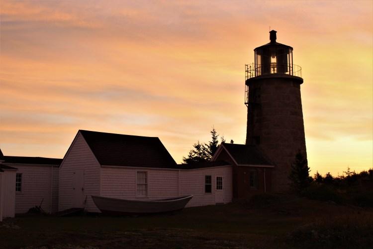 Greeting the sun at the Monhegan Island lighthouse