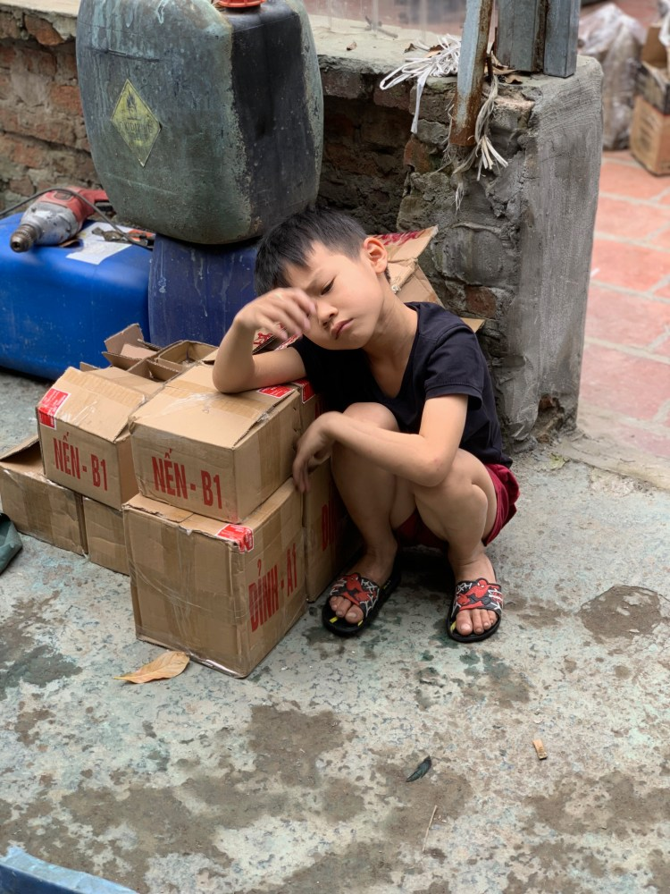 Vietnam tired boy