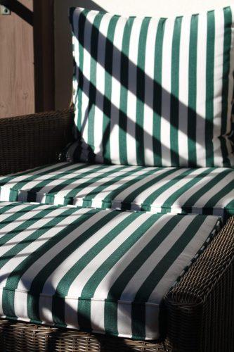 Striped cushions at The Cloister, Sea Island, GA