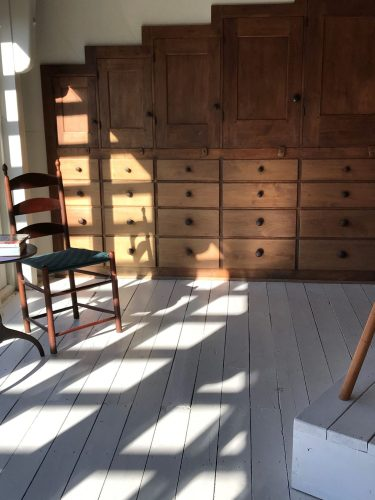 Striped shadows at Windsor Chairmakers, Lincolnville ME
