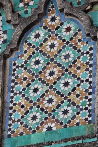 Tile mosaic, Fes, Morocco
