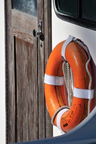 apalachicola Florida - life preserver and door