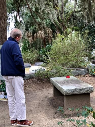 Poet Conrad Aiken gravesite, Bonaventure Cemetery, Savannah