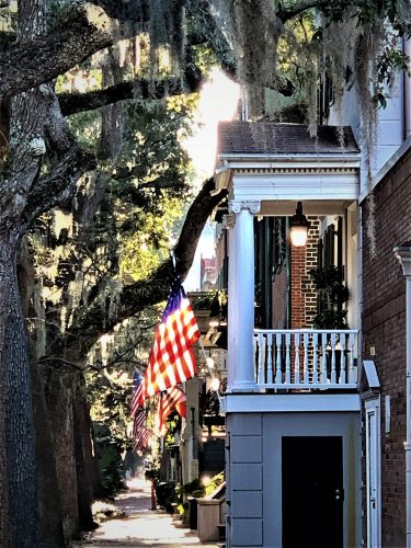 Savannah GA: Patriotic Jones Street