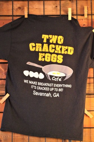 Two Cracked Eggs t-shirt, Savannah