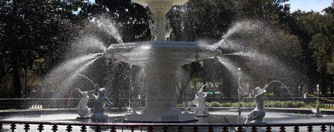 Savannah, GA - Fountain in Forsyth Park