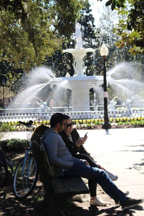 Savannah GA, Enjoying the park