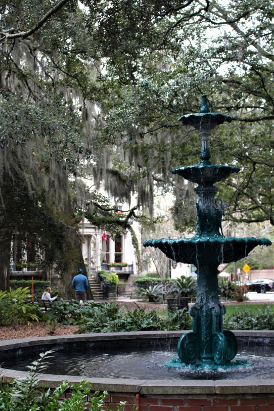 Savannah GA:  Wormsloe Fountain in Columbia Square