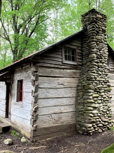 Chimney, Levi Trentham house, Elkmont, Great Smokies