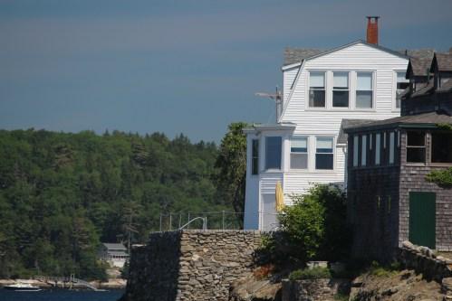 Cape Elizabeth white house on the beach