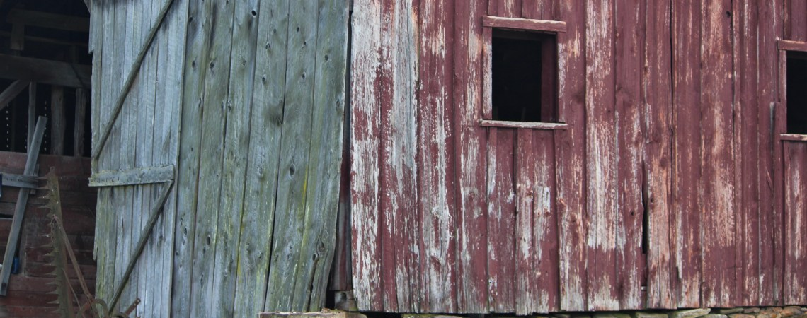 Faded red barn, North Carolina