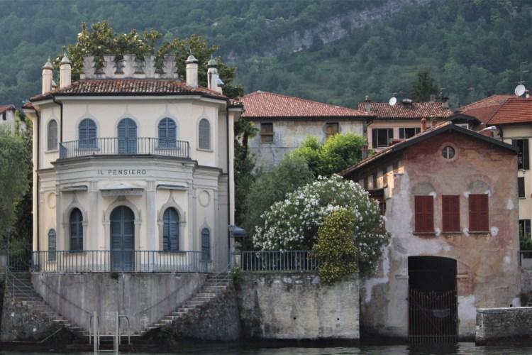 Lake Como homes on the water