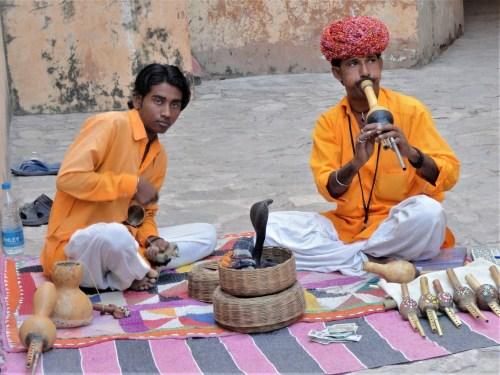Snake handlers in Jaipur, India