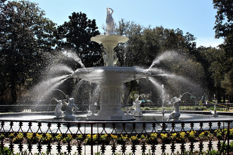 Fountain in Forsyth Park, Savannah, GA