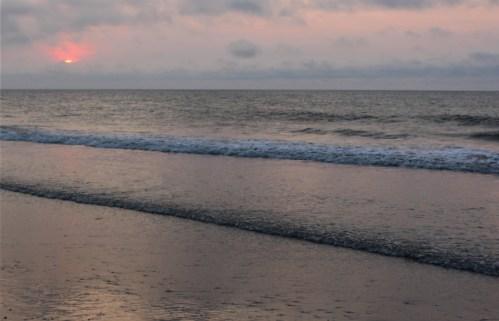 First glimpse of sunrise, Pawleys Island SC