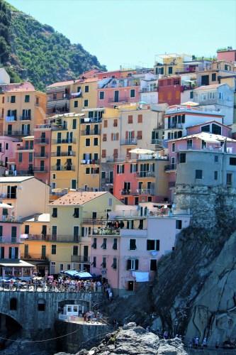 Hillside homes in Manarola, Cinque Terre, Italy