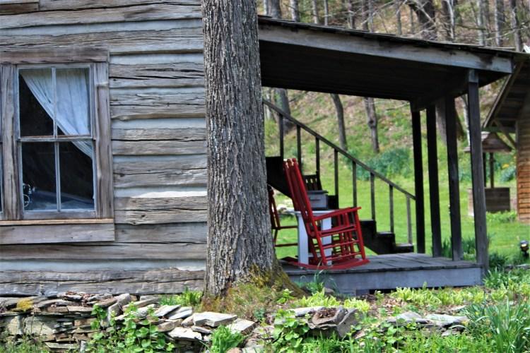 Side porch, Mast Farm Inn, Valle Crucis, NC