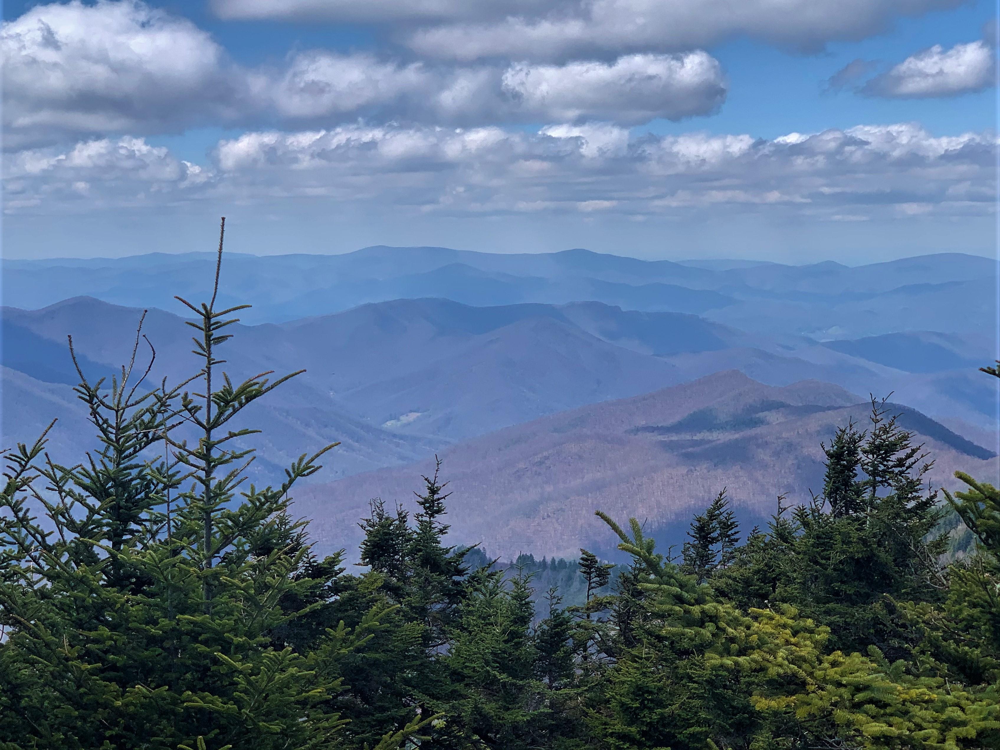 Scenic view Blue Ridge Parkway near Asheville NC