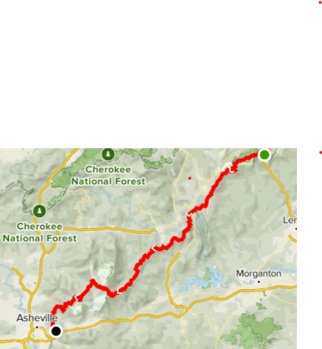 Route from Blowing Rock to Asheville, Blue Ridge Pkwy